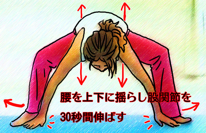 股関節伸ばし